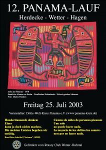12. PanamaLauf 2003 Plakat