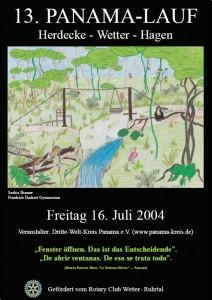 13. PanamaLauf 2004 Plakat