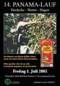 14. PanamaLauf 2005 Plakat Kaffee